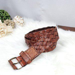 AEO Leather Woven Belt